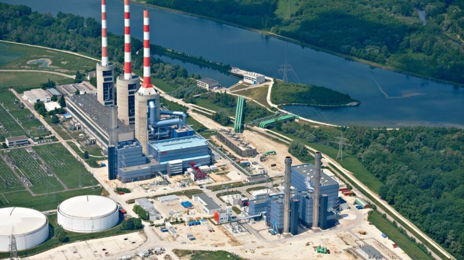 Das GuD-Kraftwerk von Uniper Kraftwerke in Irsching