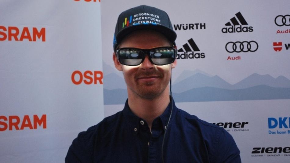 Stefan Luitz, Skirennfahrer des DSV, nutzt die Lichtbrille von Osram zur Aktivierung vor einem Nachtrennen sowie zur schnelleren Umstellung des Körpers nach längeren Reisen über mehrere Zeitzonen. Eingesetzt wurden die Lichtbrillen aber auch bereits bei dem Doppelsieg des Nachtslaloms von Felix Neureuther und Fritz Dopfer in Madonna di Campiglio 2014.