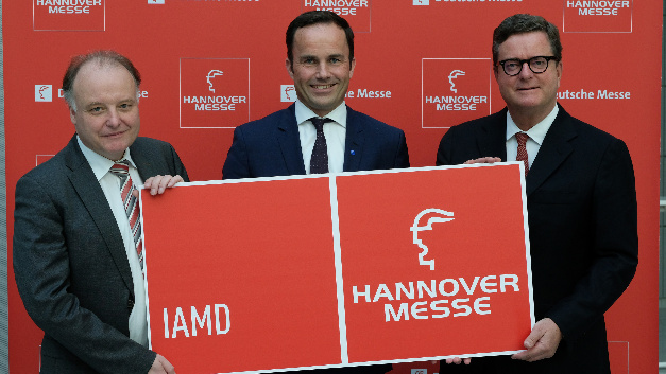Dr. Gunther Kegel, Dr. Jochen Köckler und Christian H. Kienzle (von links nach rechts) stellen die neue Messe IAMD vor.