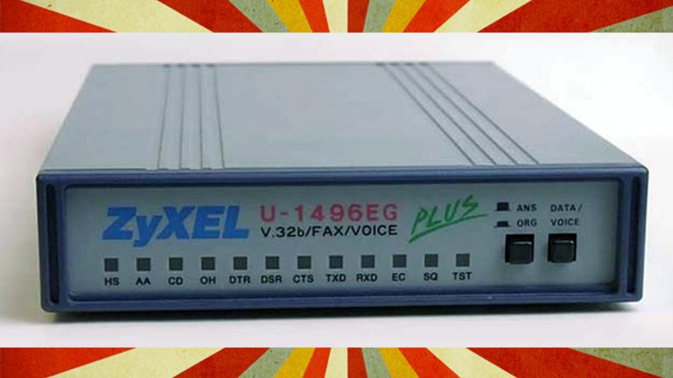 Zyxel-Modem U-1496, damals ein Standard für den Aufbau von Datenverbindungen über die Telefonleitung.