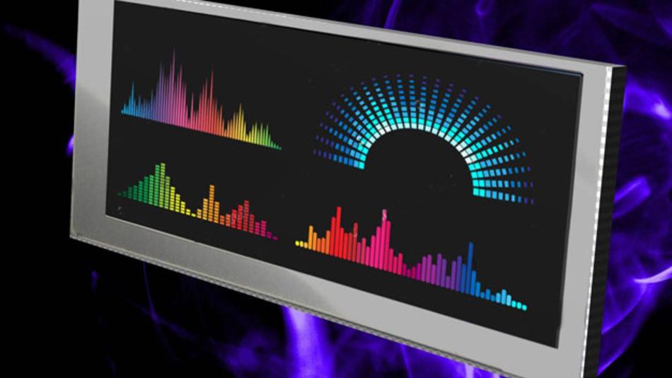 """Für die typischen 19""""-Rack-Systeme im Audio und IT-Bereich hat Kyocera ein 6,2""""-LCD im 16:6-Format entwickelt. Die Auflösung beträgt 640 x 240 Pixel, der Kontrast liegt bei 500:1 und die Helligkeit wird von Kyocera mit 500 cd/m² angegeben. Die integrierter LED-Ansteuerung ermöglicht das Dimmen der Hinterleuchtung auf bis zu 0,1% über Pulsweitmodulation. Es läuft unter der Bezeichnung TCG062HVLQAVNN-GN20 und lässt sich zwischen -20 °C und +70 °C betreiben."""