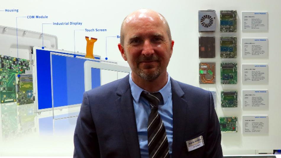 Markus Mahl, Head of Produkt Marketing auf der embedded world 2017.
