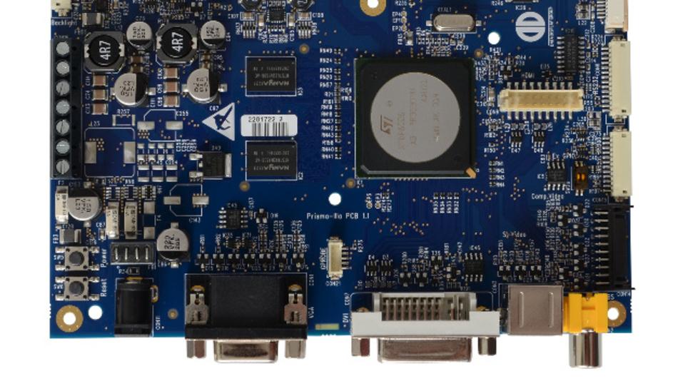 Displays mit Auflösungen von bis zu 1920 x 1200 Pixel lassen sich mit Distecs TFT-Controller-Board Prisma-IIIE ansteuern.