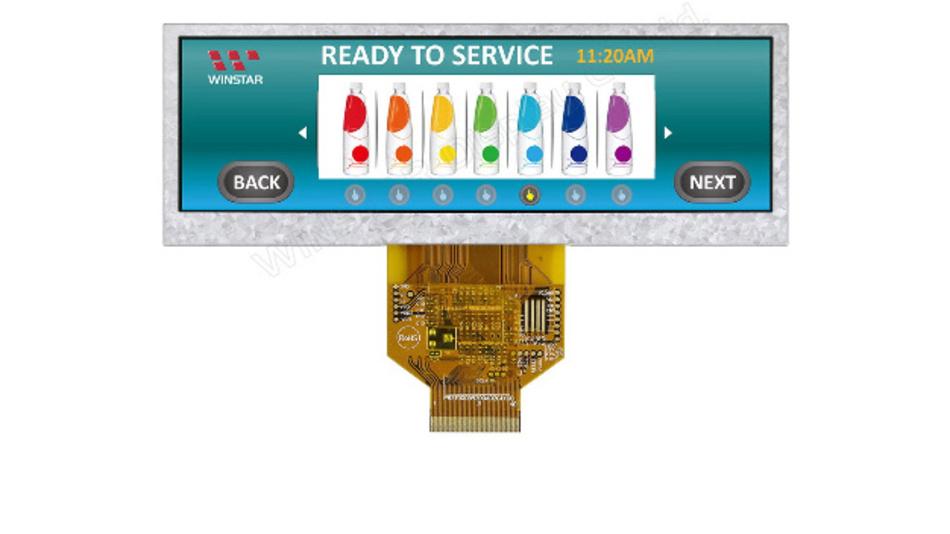 Eine Auflösung von 480 x 128 Pixel bietet Winstars stromsparendes 5,2-Zoll-TFT-Display WF52ASZASDNN0, das sich zwischen -20 und +70 °C einsetzen lässt.