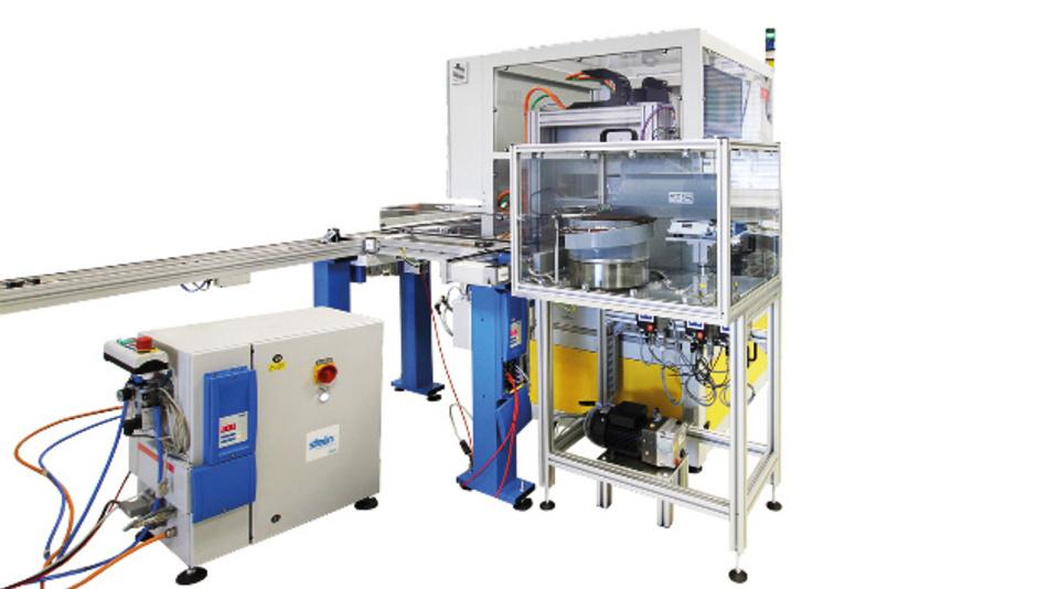 Der End-of-Line Tester für elektrische Klappensteller beim kanadischen Hersteller.