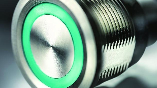 Mit einer kapazitiven Touch-Sensortechnik sind die Schalter und Taster der Serie CPS von Schurter ausgestattet.