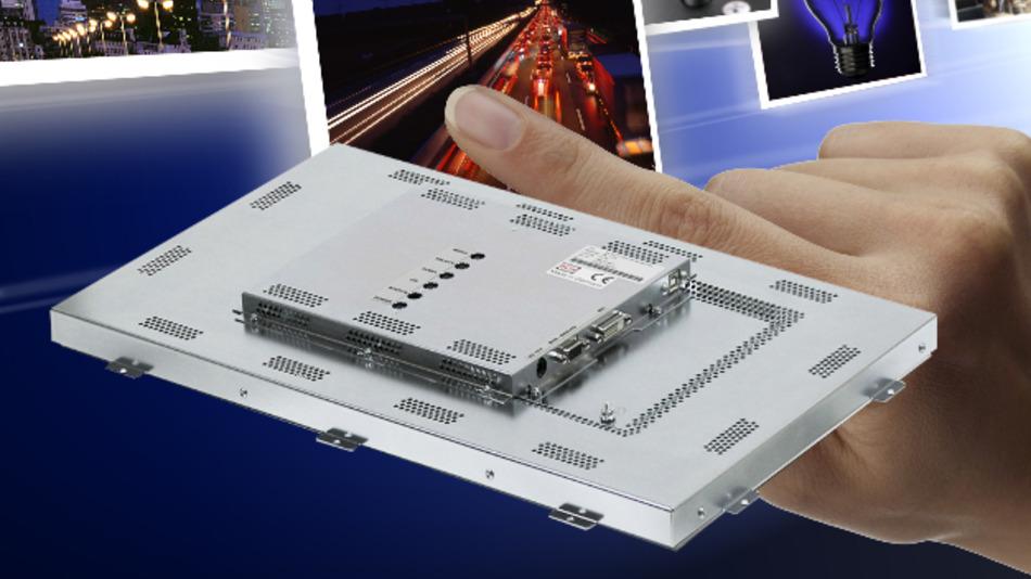 Langzeitverfügbar sind Distroniks industrielle PCAP-Touch-Einbaumonitore, die sich auch hinter einer bis zu 5 mm dicken Glasfront einsetzen lässt.