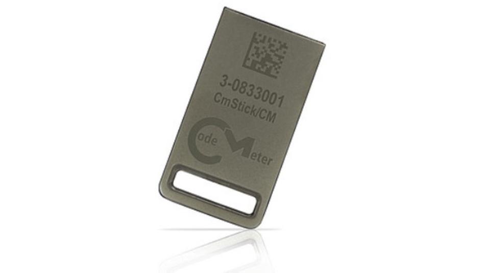 Der »CmStick/CM« von Wibu-Systems vereint Software-Schutz und Speicher in einem robusten Gehäuse.
