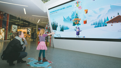 Weihnachtsspiel im Westside-Center: Die Marketing-Aktion soll eine Conversion Rate von 32 Prozent erreicht haben.