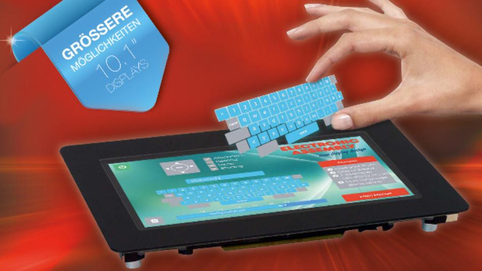Beim intelligenten 10,1-Zoll-TFT-Display EA uniTFT101 von Electronic Assembly lassen sich nun auch Objekte verwirklichen.