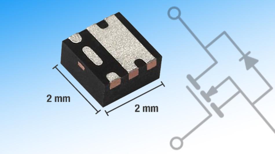 Das PowerPAK-SC-70Gehäuse bringt deutliche Platzeinsparungen im Vergleich zum PowerPAK-1212-Gehäuse.