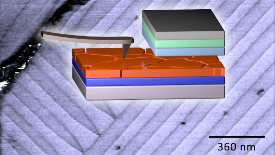 Am KIT wurden die Perowskit-Solarzellen mittels der Piezoresponse Force Microscopy vermessen.