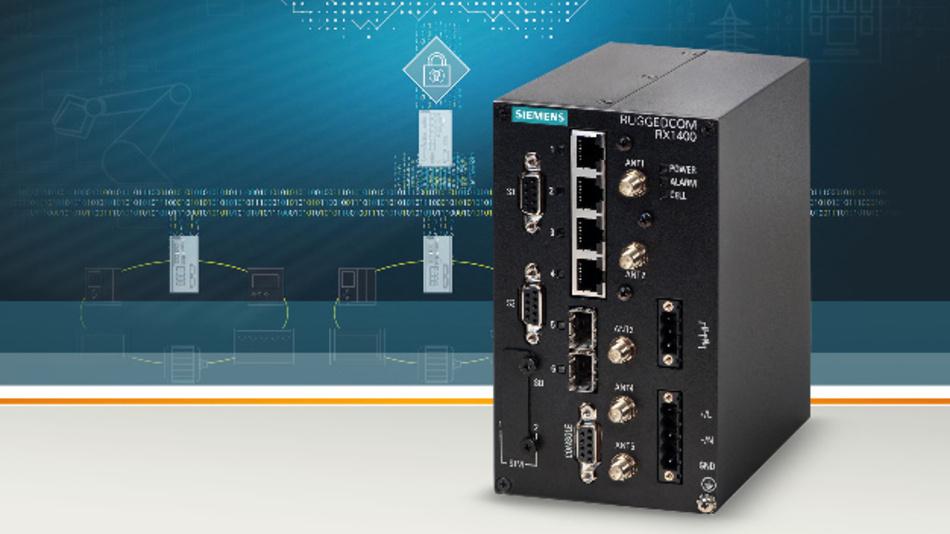 Der Router »Ruggedcom RX1400« von Siemens ermöglicht eine direkte Verbindung zu MindSphere.