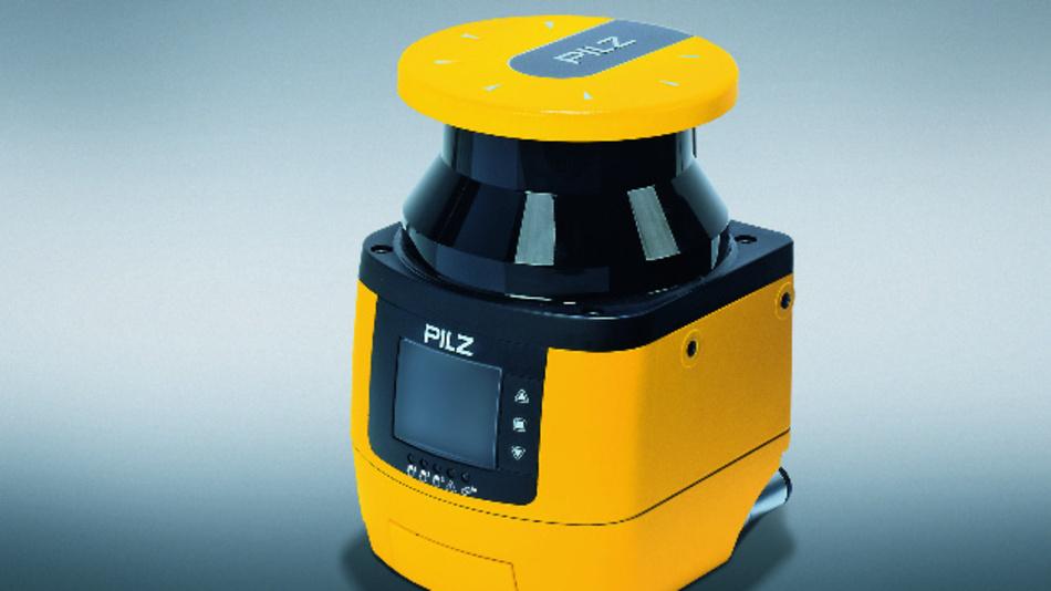 Der Sicherheits-Laserscanner »PSENscan« von Pilz überwacht bis zu drei getrennte Zonen gleichzeitig.