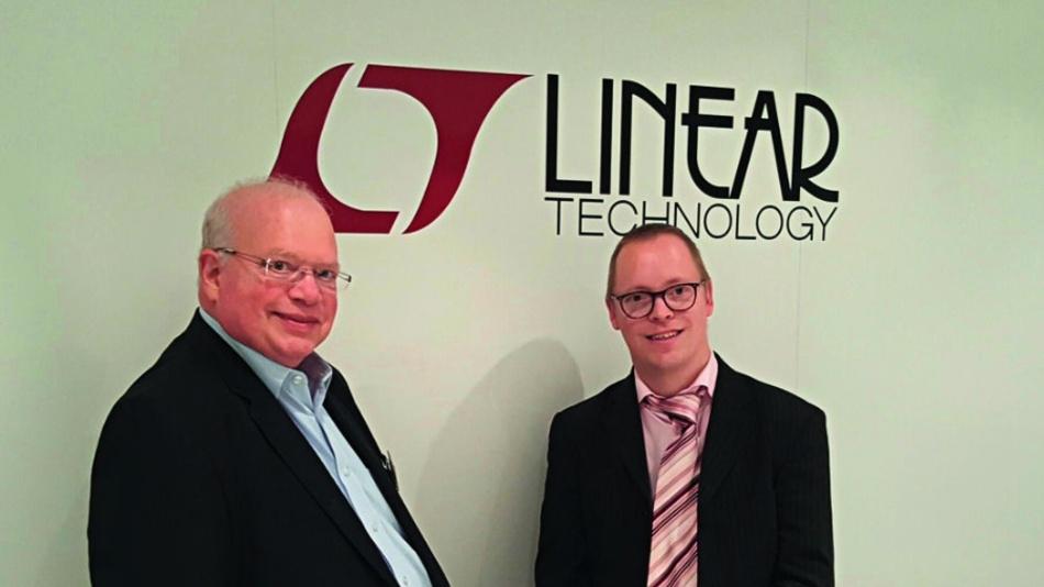 (links) mit Redakteur Ralf Higgelke (DESIGN&ELEKTRONIK) auf der electronica 2016.