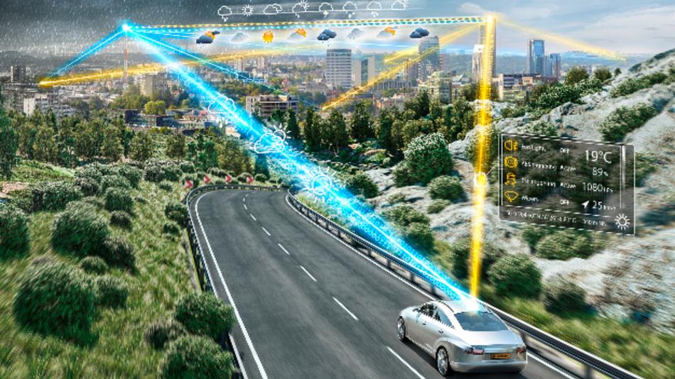 Ortsgebundene Echtzeit-Wetterinformationen über den neuen Mobilitätsdienst von Continental.