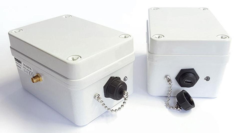Bild 2. Geschützt im robusten Gehäuse: Diese MSR40-Spezial-Datenlogger kommen bei den Steinschlag-Versuchen zum Einsatz; sie zeichnen die Spannungssignale von Kraft-Messzellen auf, die in den Auffang-Vorrichtungen angebracht sind.