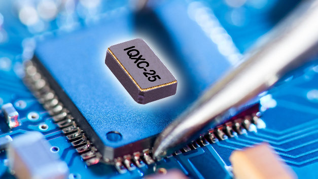 Mit 12,5 pF, 9 pF, 7 pF oder 6 pF können die Lastkapazitäten von IQDs Quarz IQXC-25 spezifiziert werden.