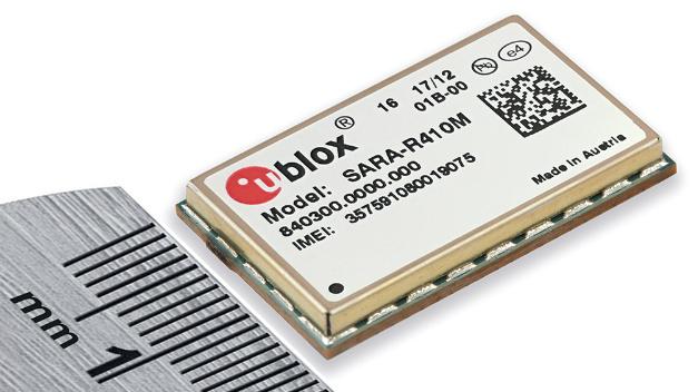 Mit dem SARA R410M können die Designer ihre bestehenden 2G- und 3G-Systeme um Quadband-LTE-CAT-M1-Module aufrüsten, ohne am Leiterplatten-Layout etwas ändern zu müssen.