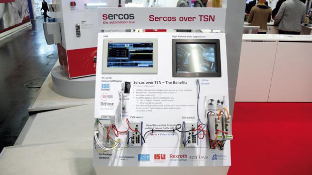 Der Sercos-TSN-Demonstrator auf der Messe SPS IPC Drives 2016