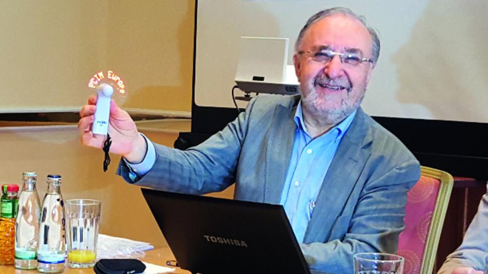 Prof. Leo Lorenz bei der Pressekonferenz im Vorfeld der PCIM.