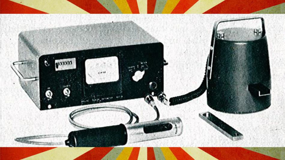 Das Strahlenmeßgerät RDC-22 wird mit Sonde und Meßkopf geliefert