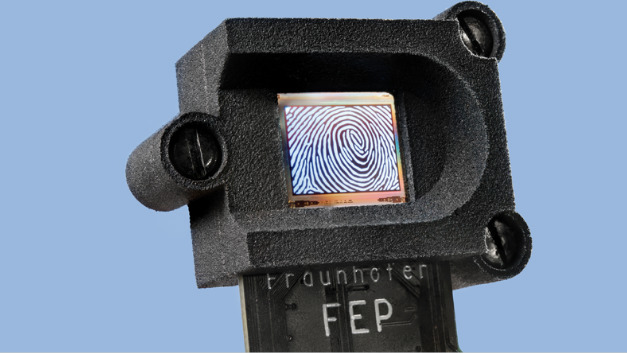 Eine native Auflösung von 1600 dpi hat erste Prototyp des Fingerprintsensors von Fraunhofer FEP.