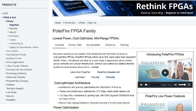 Microsemis neue kostenoptimierte PolarFire FPGAs bieten die branchenweit niedrigste Leistungsaufnahme bei mittleren Dichten