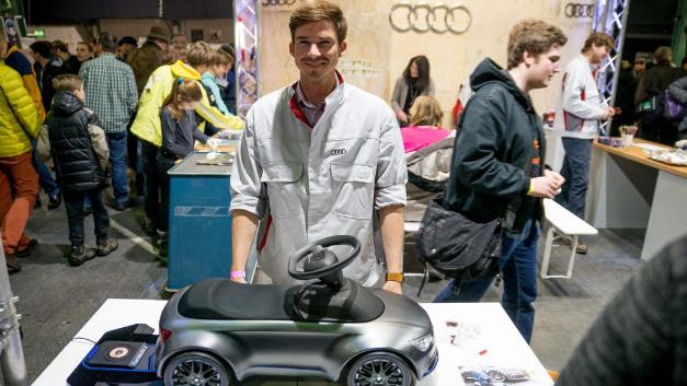 Audi war nicht nur Sponsor der Make Munich, sondern veranstaltete auch eine Mini Design Challenge zum Thema Kundenorientiertes Design.