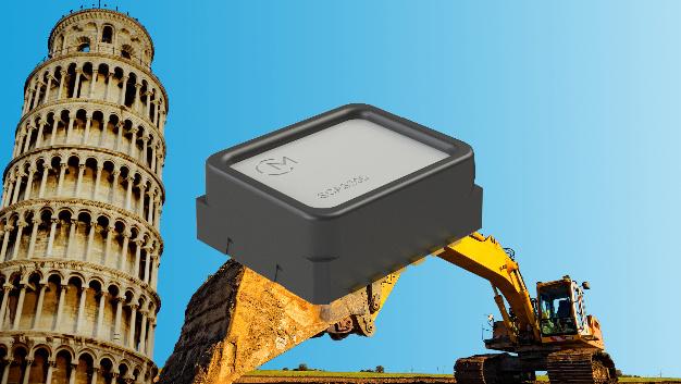 Auch ein Neigungssensor gehört zu den Highlights auf der Sensor+Test: Er misst nicht nur auf drei Achsen, sondern sogar auf vier...