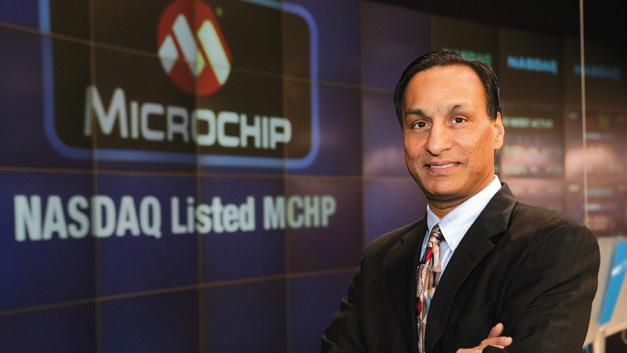 Steve Sanghi, Microchip Technology: »Die Synergien durch die Übernahmen sind enorm hoch. Beispielsweise durch SMSC haben wir Zugriff auf USB- und Ethernet-Technologien bekommen, die wir jetzt auch in unseren MCUs nutzen. Ähnliches gilt für Supertex und Micrel und deren Analogtechniken. Man darf keine Möglichkeit ungenutzt lassen.«