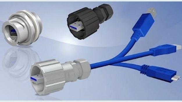 IP67 USB 3.0 Steckverbinderserie