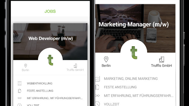 Job gefunden? Über die App können sich Arbeitgeber und Arbeitnehmer schnell treffen.