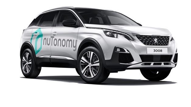 Für im Laufe des Jahres stattfindende Straßentests wird nuTonomy seine Selbstfahr-Software und Sensor-Systeme im neuen SUV Peugeot 3008 integrieren.