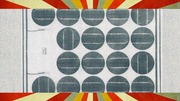 Solarzelle mit 4 Zoll Scheibendurchmesser