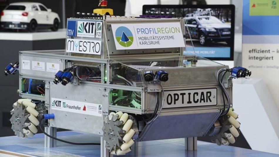 Das »Opticar«- Fahrzeug soll zur Erprobung neuer Technologien der Umweltwahrnehmung beim autonomen Fahren dienen.