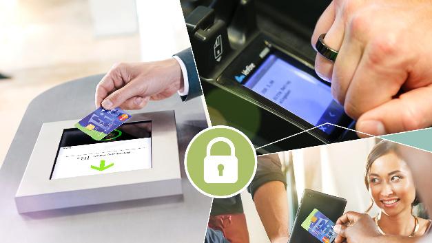 Schnell, sicher und bequem ist das Bezahlen mit chipbasierenden Kontaktloskarten und Handys via NFC.