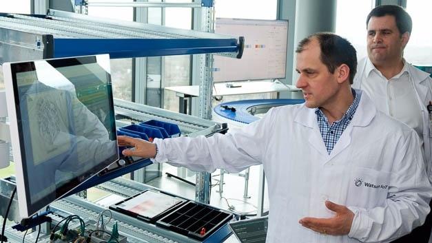 Forschung bei IBM im Watson-IoT-Forschungszentrum in München.