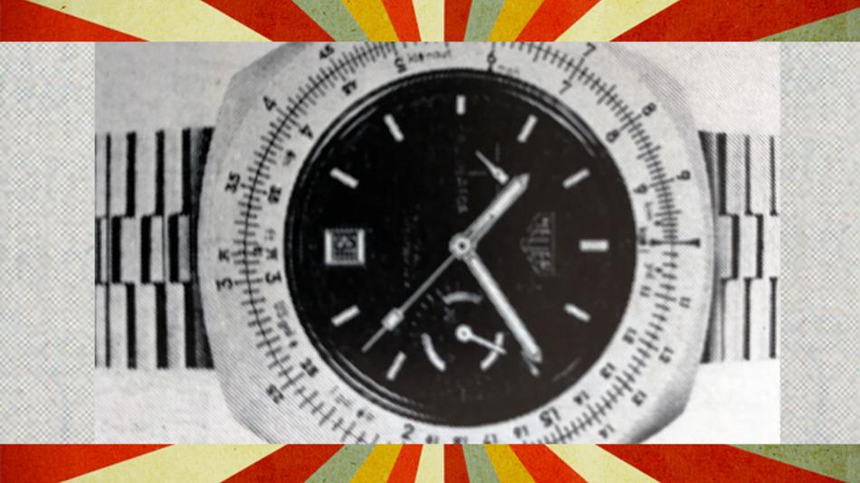 Die Uhr Calculator von Heuer ist Uhr und Rechenschieber in einem.