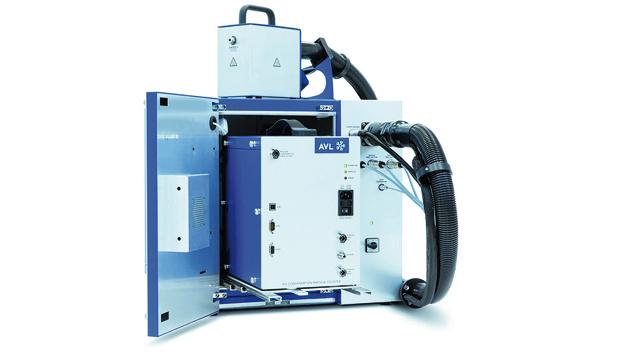 """Das neu entwickelte Abgasmessgerät """"APCplus"""" hat im Vergleich zu bisherigen Lösungen eine um 20% verbesserte Leistung, um kleinste Partikel schneller und präziser zu messen."""