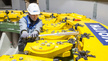 Service Arbeiten für das Wasserkraftwerk durch Voith
