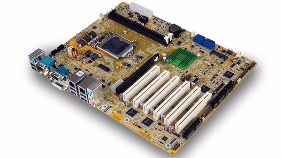 """Das """"IMBA-H110""""-ATX-Motherboard von ICP Deutschland verfügt über sechs PCI-Slots."""