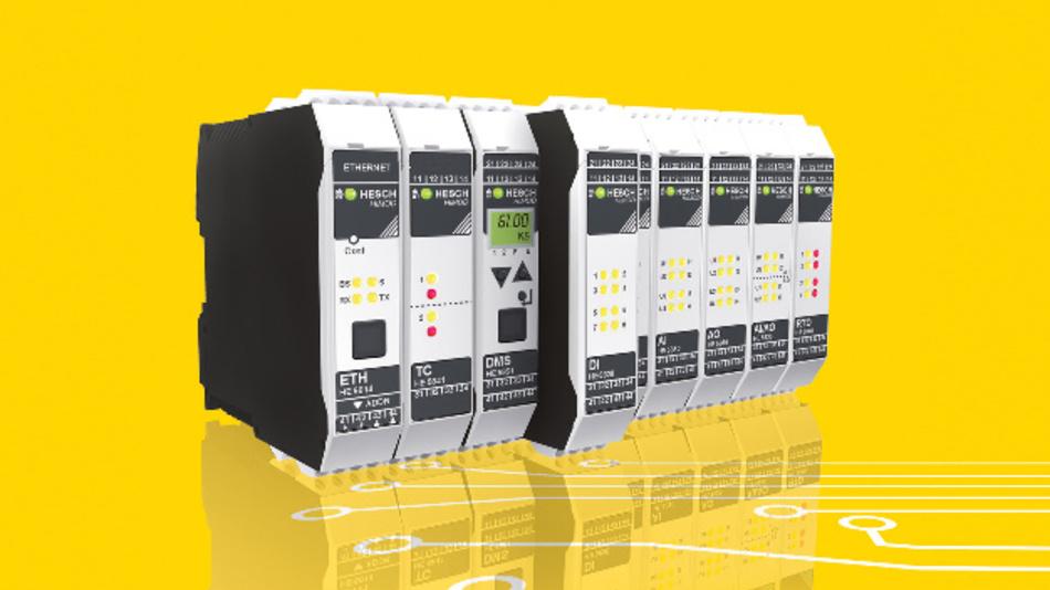 Die mehrkanaligen I/O-Module von Hesch sind mit eigener Intelligenz ausgestattet und können Signale vorverarbeiten.