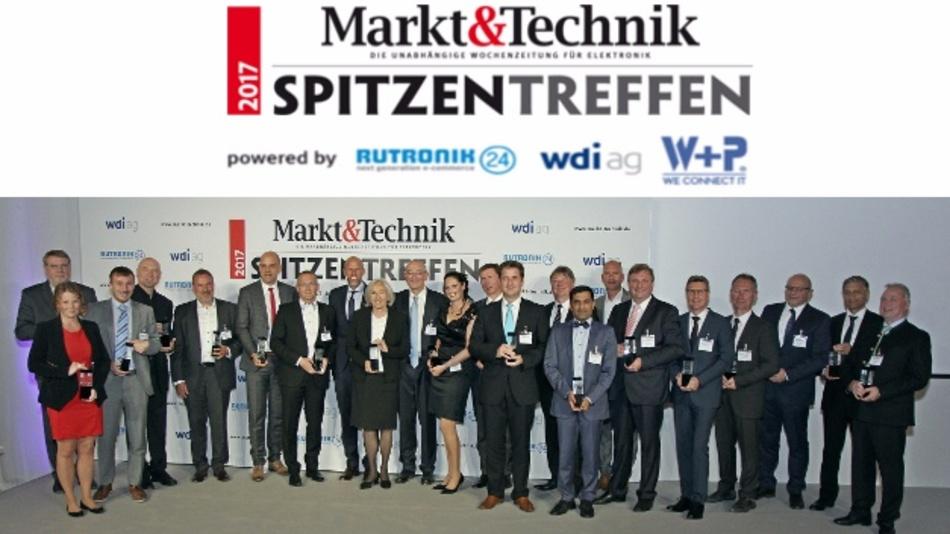 Die Gewinner der Manager-des-Jahres-Wahl auf dem Markt&Technik-Spitzentreffen 2017.