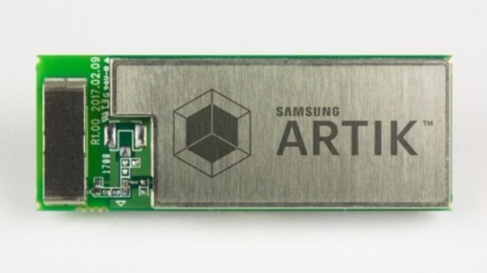 Das Modul ARTIK 053 von Samsung enthält einen ARM-Cortex-R4 mit Speicher, WLAN-Modul und Peripherie-Schnittstellen.