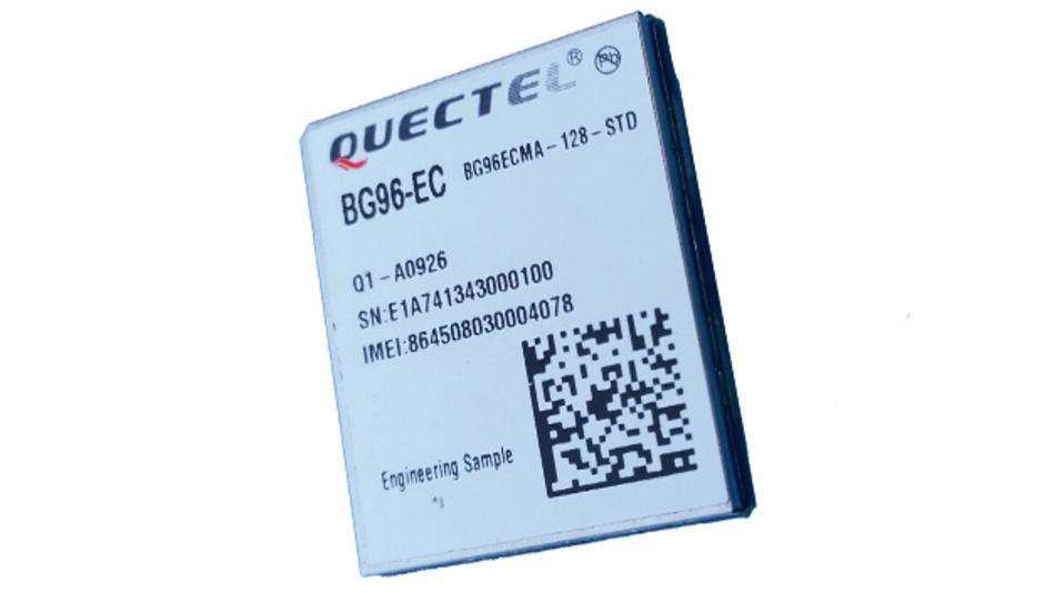 Funkmodul BG95 von Quectel für LTE-Cat-NB1, LTE-Cat-M1 und GPRS/GSM.