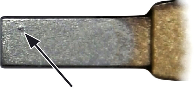 Materialübertragung durch Kontaktschweißen durch einen hohen Einschaltstromstoß