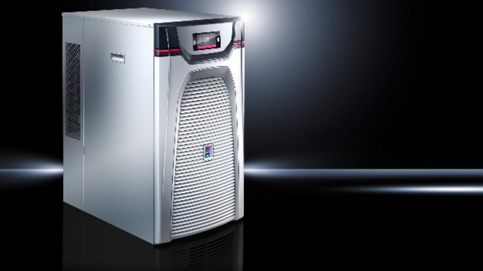 Im Vergleich mit Chillern auf Basis der Heißgas-Bypass-Regelung benötigen Rittals Blue-e+-Kühler bis zu 70 Prozent weniger Energie.
