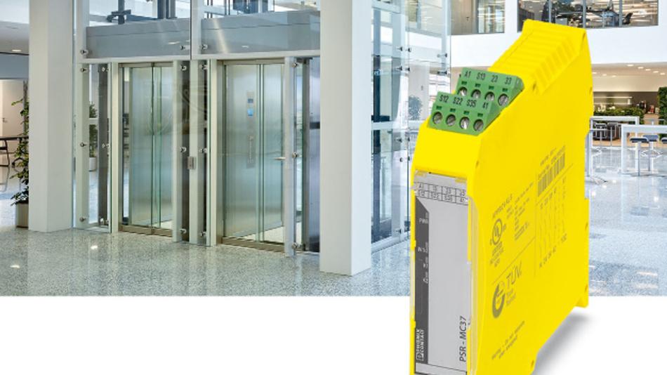 Nur 22,5 mm breit ist Phoenix Contacts der Sicherheitsrelais PSR-MC37 aus der Produktfamilie PSRmini.