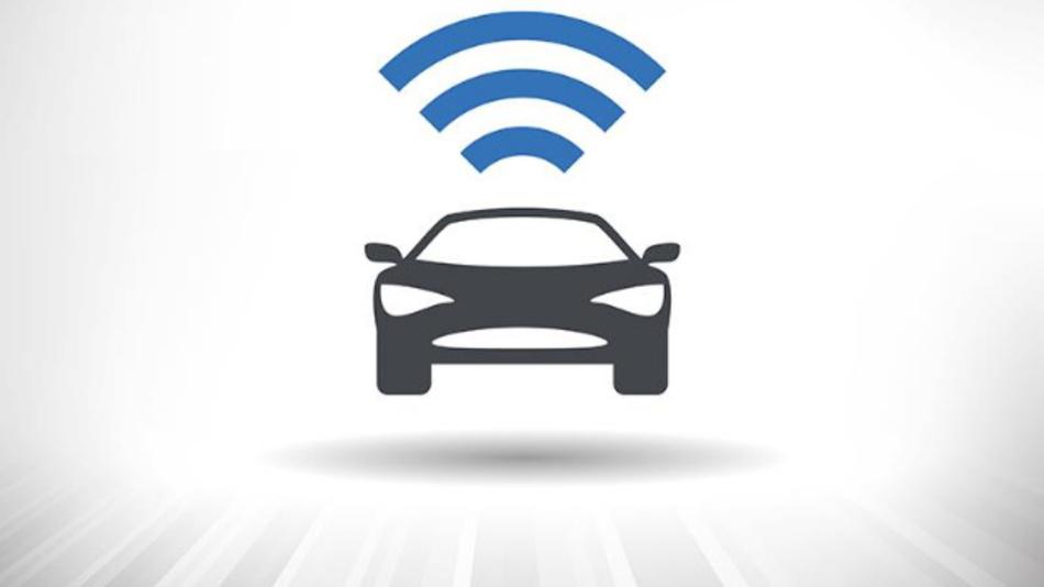Fahrzeug kommuniziert mit anderen Fahrzeugen und der Infrastruktur